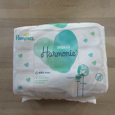 Pampers - Aqua Pure Wipes - 0% Perfume Or Alcohol - 3 X 48 Wipes.