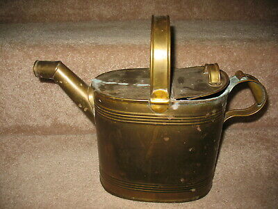 Vintage Victorian BRASS Watering Can & Lid for your Conservatory or Greenhouse..