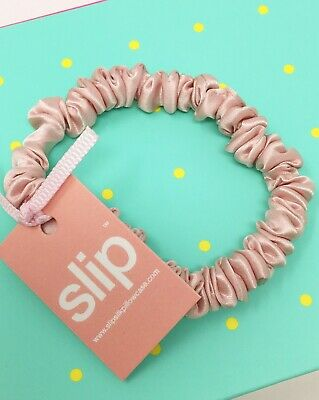 SLIP SILK SCRUNCHIE Pink Skinny Hair Tie x 1 (Single) New With Tags