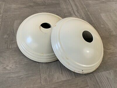 2- MID CENTURY MODERN  METAL Dome Flush Mount Pendant CEILING Plate Cover Parts