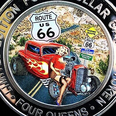 2019 Route 66 Four Queens Casino $40 Yellow Capsule Silver Strike- Free Shipping