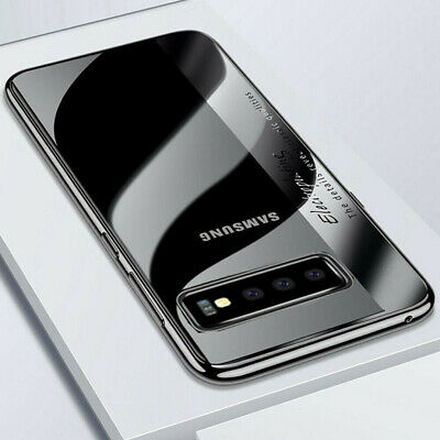 For Samsung Galaxy S10 Plus Slim Plating Clear Soft TPU Case Cover