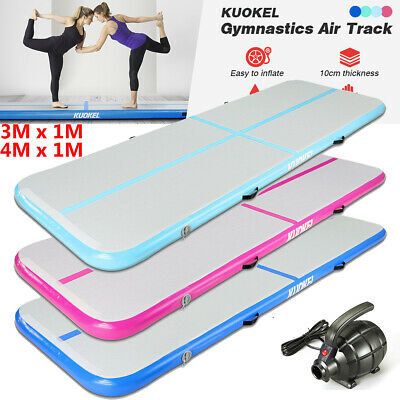 3/4M Airtrack Inflatable Air Track Tumbling Floor Mat Gymnastics Exercise + Pump