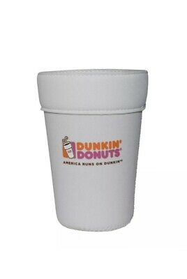 Dunkin Donuts 2018 Iconic Cup Cooler Koozie  Iced Coffee SMALL 16oz. White NEW