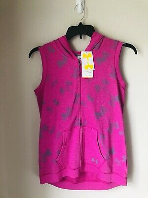 NWT Under Armour Girls Zip Up Hooded Vest - XL