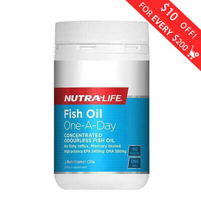 Nutralife Fish Oil One-A-Day 90 Caps  Free Shipping