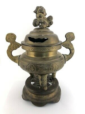 Antique Large 19Th Century Chinese Bronze Censer Incense Burner/Bronze Stand 👀