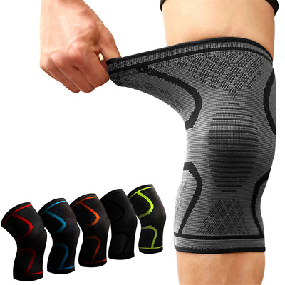 Knee Sleeve Compression Brace Support For Sport Joint Pain Arthritis Relief M-XL