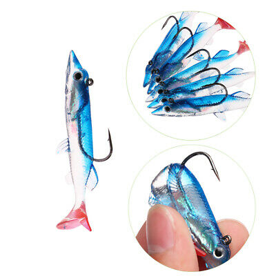 Minnow Night Plastic Fishing Lure Crank Bait Hook Bass Crankbait Tackle Fun Blue