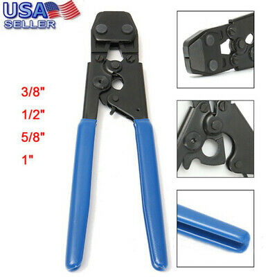 PEX Cinch Crimp Crimper Crimping Tool For SS Hose Clamps Sizes From 3/8'' To 1''