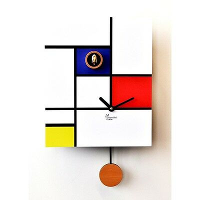 Watch Cuckoo Modern, Pirondini, Around Mondrian, House Design Cuckoo Clocks