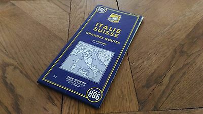 Card Road Michelin« Italy - Switzerland 1966 » Very Good Condition