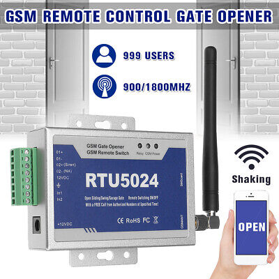 RTU5024 GSM Door Gate Opener Wireless Remote Control On/Off Switch SMS Free Call