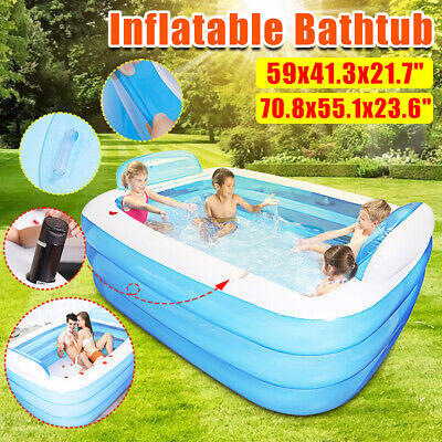 "60""/80"" Large Family Swimming Pool Outdoor Summer Inflatable Kids Paddling Pools"
