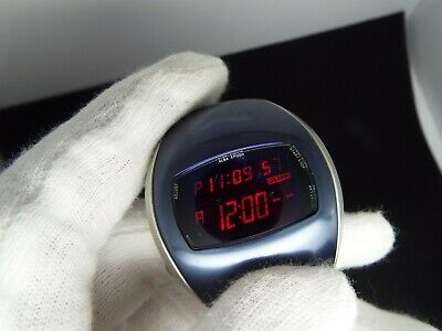 Seiko Vintage Digital Watch Red Led Spoon W671-4000 Smooth Corners Nos
