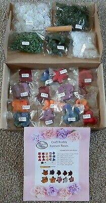 CRAFT BUDDY Forever Flowerz ROMANTIC ROSES FLOWER KIT make 175 + tool RICH TONES