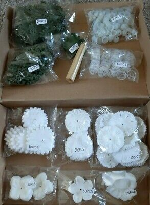 CRAFT BUDDY Forever Flowerz WONDERFUL WHITES FLOWER KIT make 200 + tool