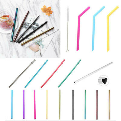 Portable Stainless Steel Bar Drinking Straw Reusable Milkshake Sucker Tea Tools