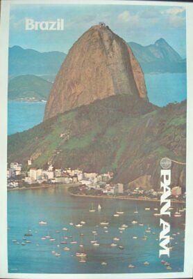 RIO de JANIERO Pan American Airways Vintage Art Deco Travel Poster A1A2A3A4Sizes
