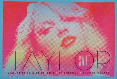 TAYLOR SWIFT LOS ANGELES 2013 Limited edition print Concert poster KII ARENS
