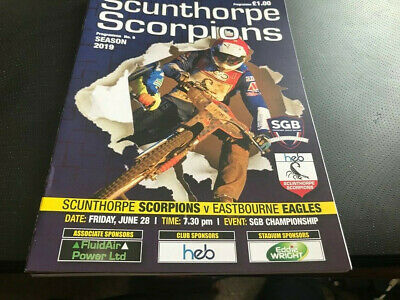 Scunthorpe Scorpions V Eastbourne Eagles--Speedway Programme--28Th June 2019
