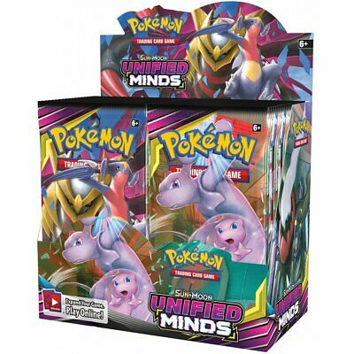 Pokemon TCG Sun & Moon Unified Minds Booster Box Incl 36 Booster Packs