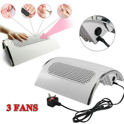 220V 40W Nail Vacuum Cleaner Nail Art Speed Adjust Suction Dust Collector Gift
