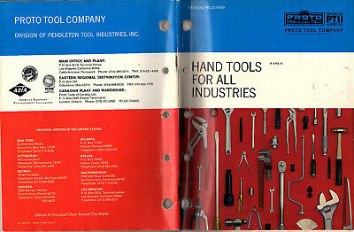 PROTO Industrial Hand Tools 1969 Catalog Proto Tool Co Files Pliers Wrenches