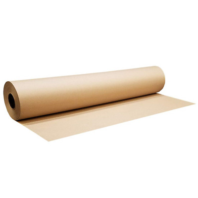 750mm x 100M Heavy Duty Brown Kraft Wrapping Paper Roll 90gsm – 100 METRES