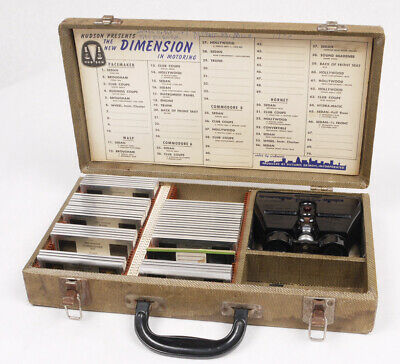 Hudson 3D Stereo Slides and TDC Viewer Salesman's Kit c.1952 - Hornet/Wasp - WOW