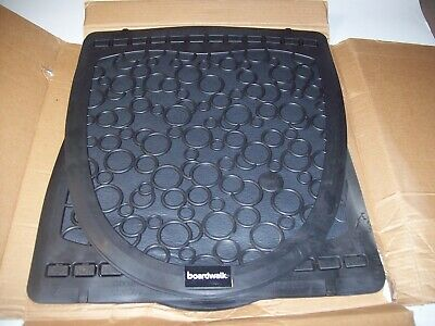 Boardwalk UMBB Urinal Mat 2.0, Rubber, 17 1/2 x 20, Black / black, 6 / carton