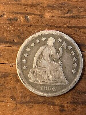 1856 Seated Half Dime Silver American Coin