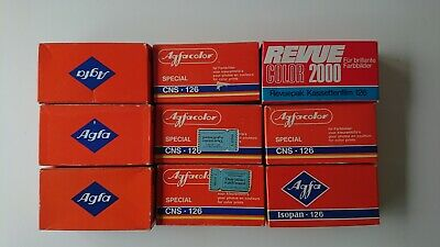 126mm 10x - Agfa Film Lot - ISOPAN - AGFACHROME CT18 - CNS SPECIAL