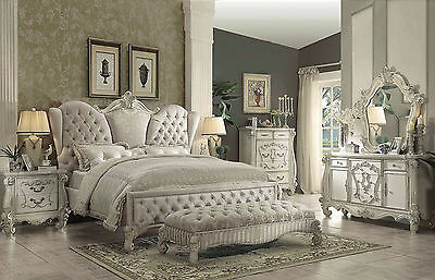 NEW TRADITIONAL DESIGN Antique White Bedroom Furniture ...