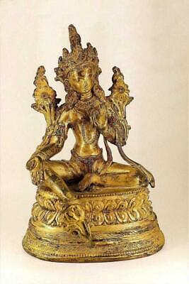 Superb Chinese Tibet / Nepal Gold Bronze Buddha Statue. Late 18th/Ear 19th C.
