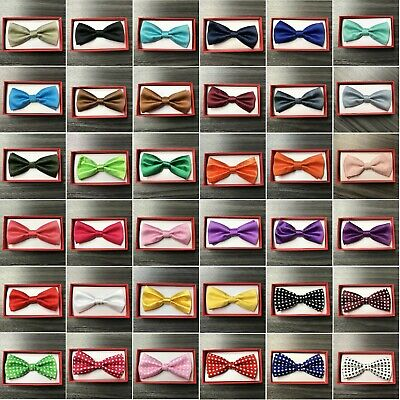 50+ Colors Clip on Adjustable Wedding Bow-Tie for Toddler Baby Kids Boys Girls