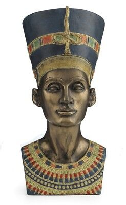 "6.5"" Bust of Queen Nefertiti Egyptian Statue Figure Sculpture Egypt Decor"