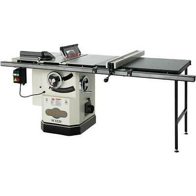 "Shop Fox W1820 10"" 3 H.P. Cabinet Table Saw with Riving Knife and Long Rails"