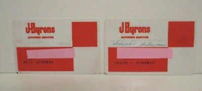 Vintage J. Byron's Defunct Retail Department Store Charge Credit Card Lot/2