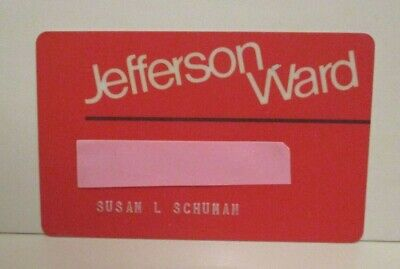 Vintage Jefferson Montgomery Ward Retail Department Store Charge Credit Card
