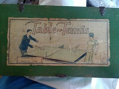 VINTAGE 1900s MARKS BROTHERS CO. TABLE-TENNIS GAME COMPLETE w/ Box