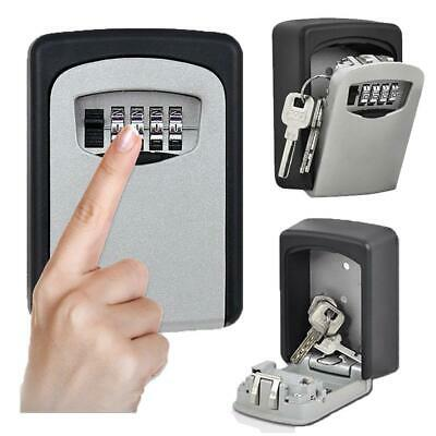 4 Digit Wall Mounted Key Safe Key Box Lock Combination Safety Key Outdoor JS001