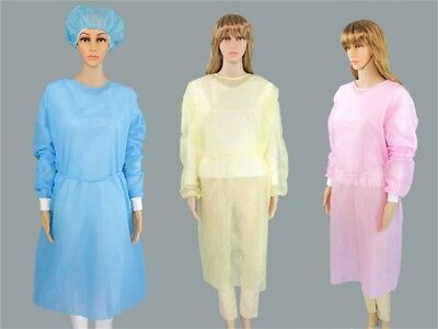 Disposable Medical Clean Laboratory Isolation Cover Gown Surgical Clothes UQ