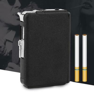 Cigarette Case & Lighter Automatic Ejection Butane Windproof Metal Box Holder A>
