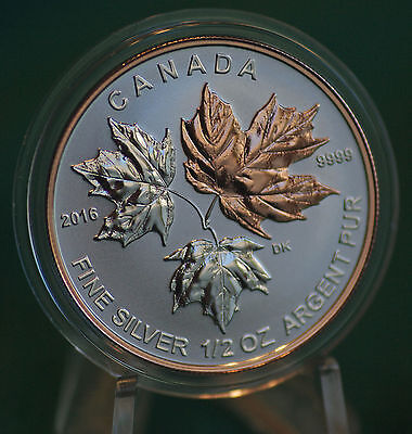 2016 CANADA $4 Silver Maple Leaf 1/2 oz Reverse proof from Fractional set