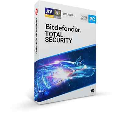 Bitdefender Total Security 2020 | 1 PC - 1 Year, 2 Year, 3 Year, 4 Year, 5 Year