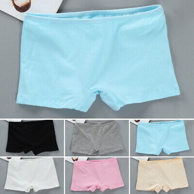 Kid Children Girl Solid Color Cotton Boxer Safety Pants Shorts Underwear Panties