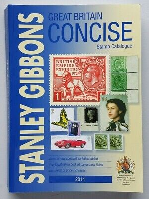Stanley Gibbons 2014 Great Britain Concise Stamp Catalogue. Second hand.