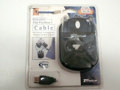 Targus Pa215U Retractable Flat Firewire Cable Ieee 1394 6Ft 6Pin - 6Pin