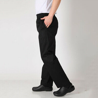 Chef Casual Baggy Chef Pants For Mens |Hotel Restaurant Kitchen Bar| M-2XL Black